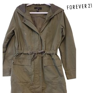 FOREVER 21 Military green long jacket